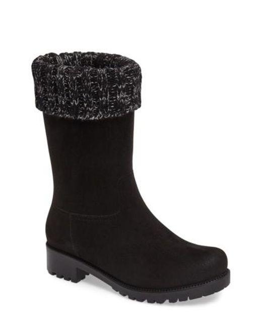 DAV Women's Shelby Knit Cuff Waterproof Boot SlZBMFJ