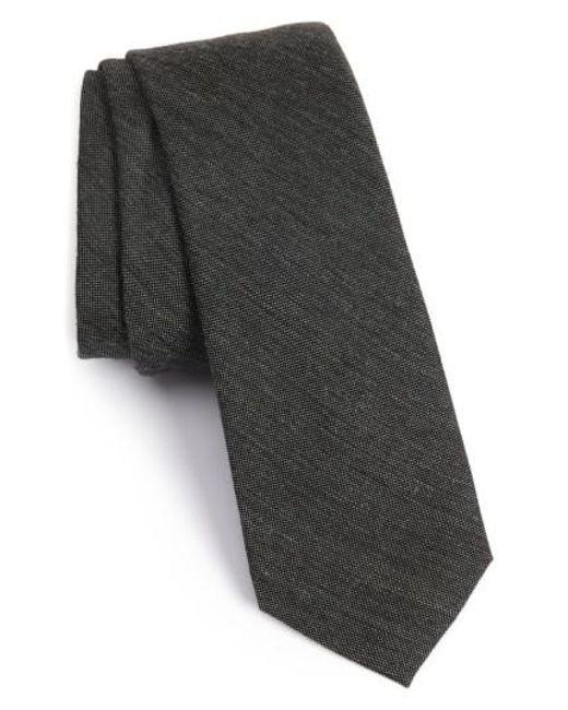 Calibrate   Gray Melange Woven Skinny Tie for Men   Lyst