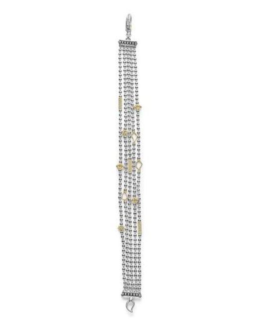 Lagos | Metallic 'caviar Icon' Multistrand Bracelet | Lyst