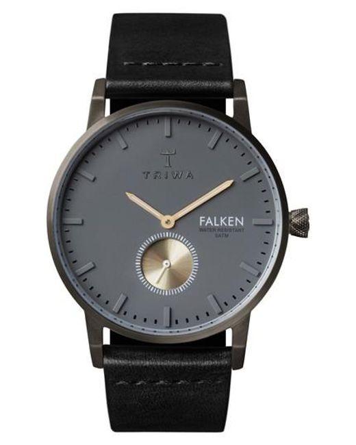 Triwa | Black Falken Leather Strap Watch for Men | Lyst