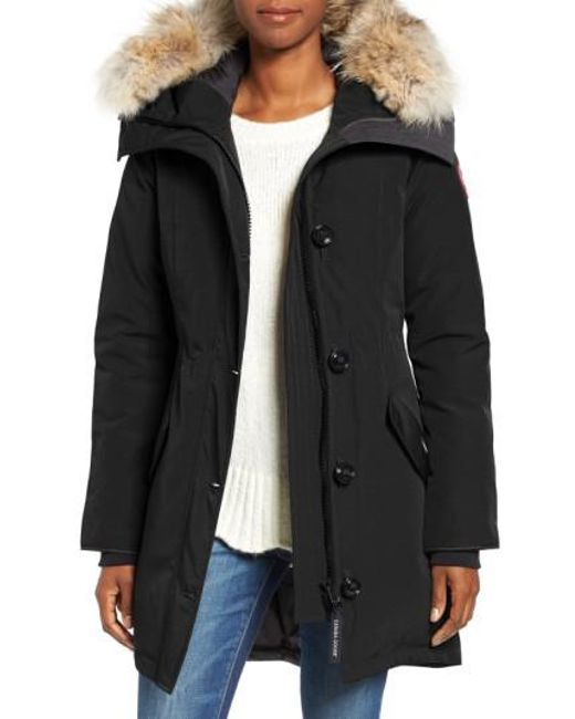 canada goose rossclair fur trim down parka