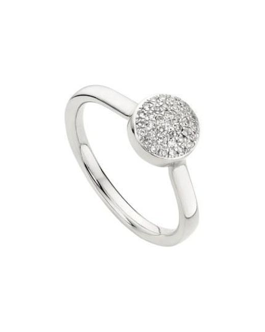 Monica Vinader - Metallic 'ava' Diamond Button Ring - Lyst