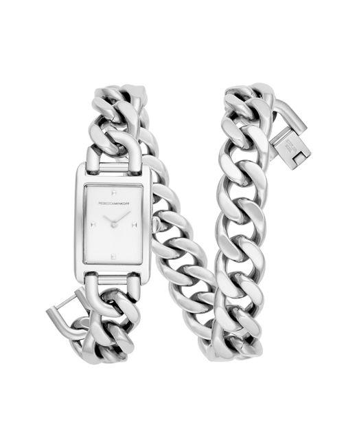 Rebecca Minkoff - Metallic Moment Gold Tone Chain Bracelet Watch, 19x30mm - Lyst