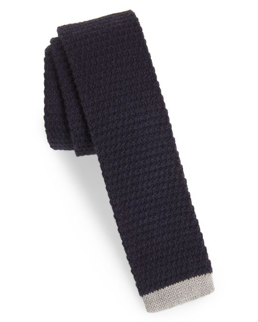 Nordstrom - Blue 1901 Belvin Knit Skinny Tie for Men - Lyst