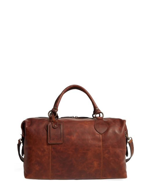 Frye - Multicolor 'logan' Leather Overnight Bag - (online Only) - Lyst