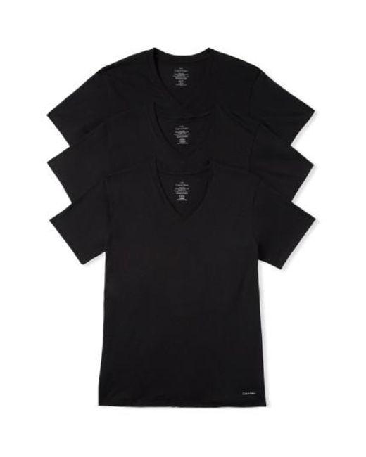 Calvin Klein | 3-pack Classic Fit T-shirt, Black for Men | Lyst
