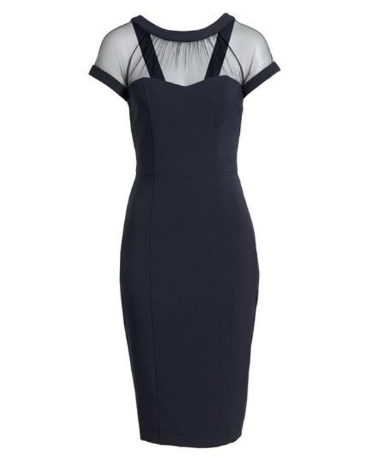 Maggy London | Blue Illusion-Yoke Crepe Sheath Dress | Lyst