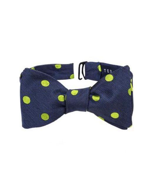 Ted Baker | Green Dot Silk Bow Tie for Men | Lyst