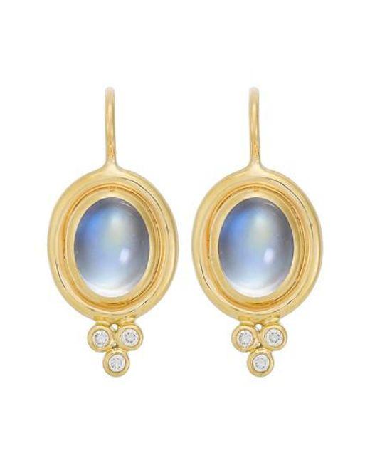 Temple St. Clair - Blue Temple St. Clair Semiprecious Stone & Diamond Drop Earrings - Lyst