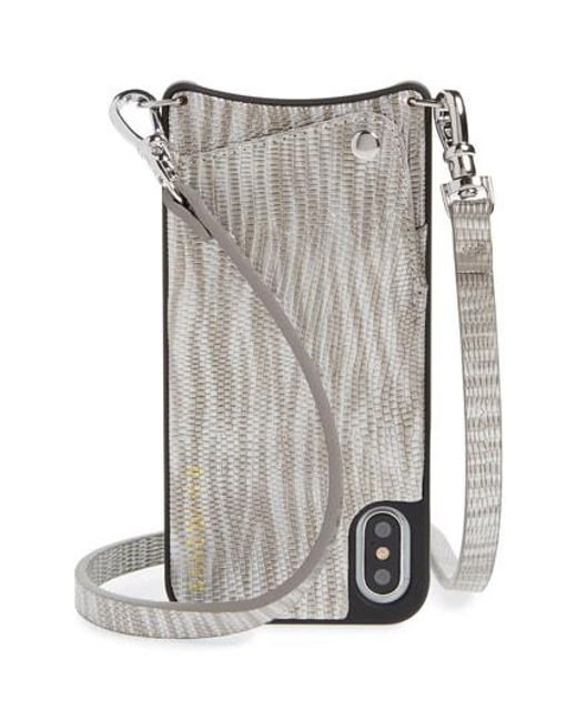 Bandolier - Gray Emma Iphone X & Xs Crossbody Case - - Lyst