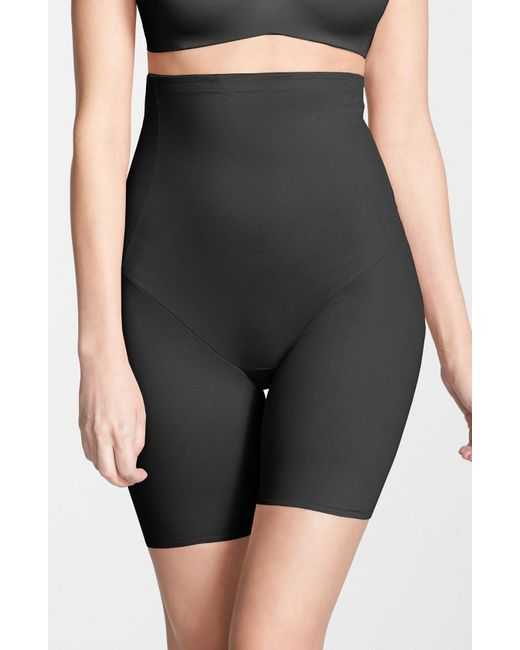 Tc Fine Intimates - Black Shape Away High Waist Shaping Thigh Slimmer - Lyst