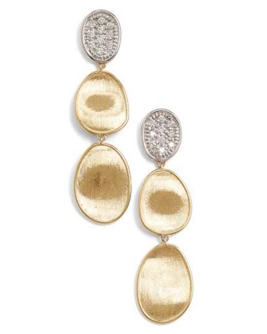 Marco Bicego | Metallic 'lunaria' Diamond Drop Earrings | Lyst