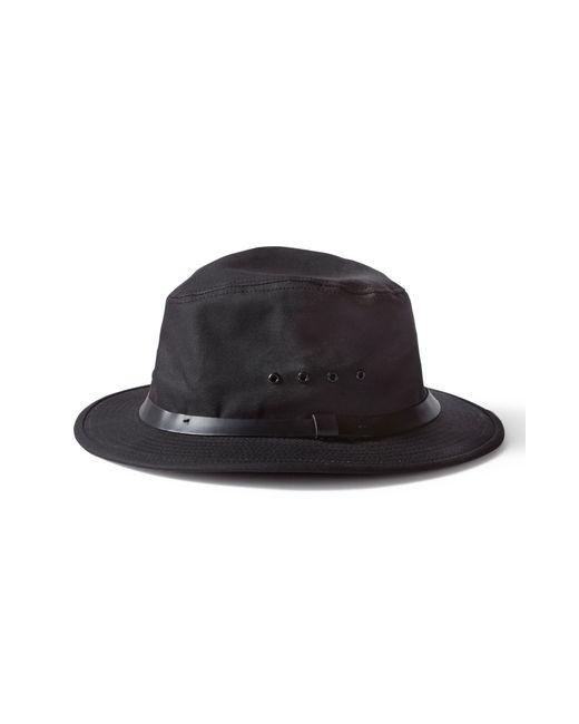 e55488ffb65 Filson - Black Tin Packer Hat for Men - Lyst. View fullscreen