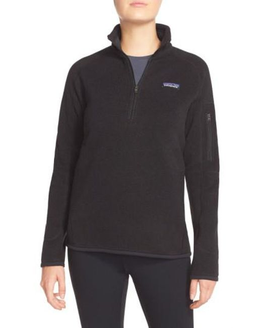 Patagonia - Black 'better Sweater' Zip Pullover - Lyst