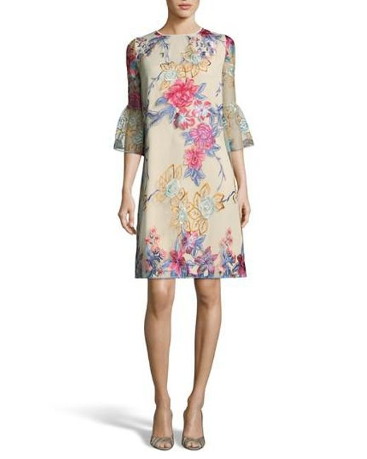 Eci - Multicolor Floral Embroidered A-line Dress - Lyst