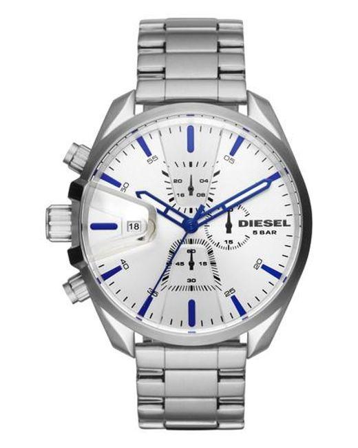 DIESEL - Metallic Diesel Ms9 Chronograph Bracelet Watch for Men - Lyst