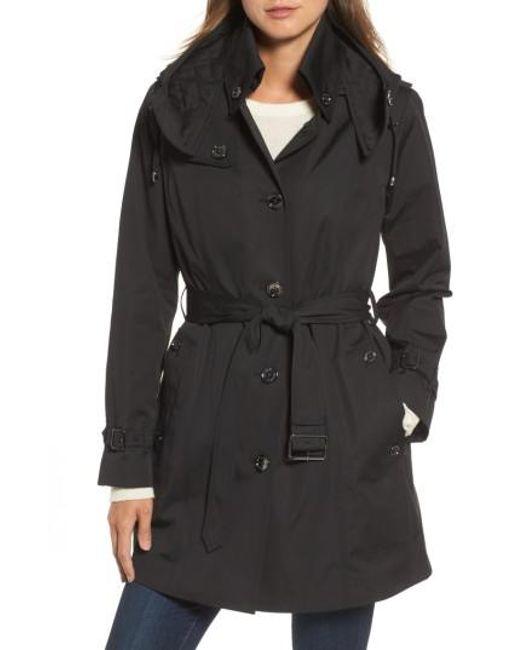 London Fog | Black Short Trench Coat | Lyst