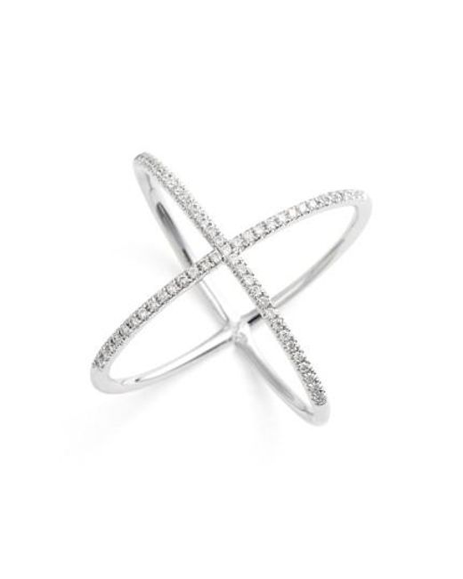 Bony Levy | Metallic Crossover Diamond Ring (nordstrom Exclusive) | Lyst