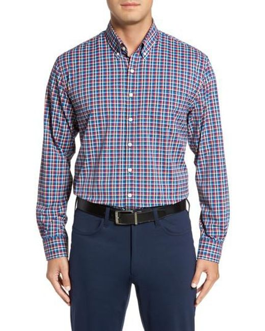 Bobby Jones | Blue Dorian Plaid Easy Care Sport Shirt for Men | Lyst