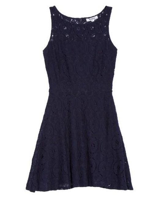 BB Dakota | Black Renley Lace Fit-and-Flare Dress | Lyst