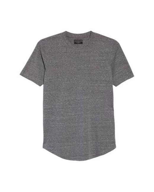 Goodlife - Gray Triblend Scallop Crewneck T-shirt for Men - Lyst