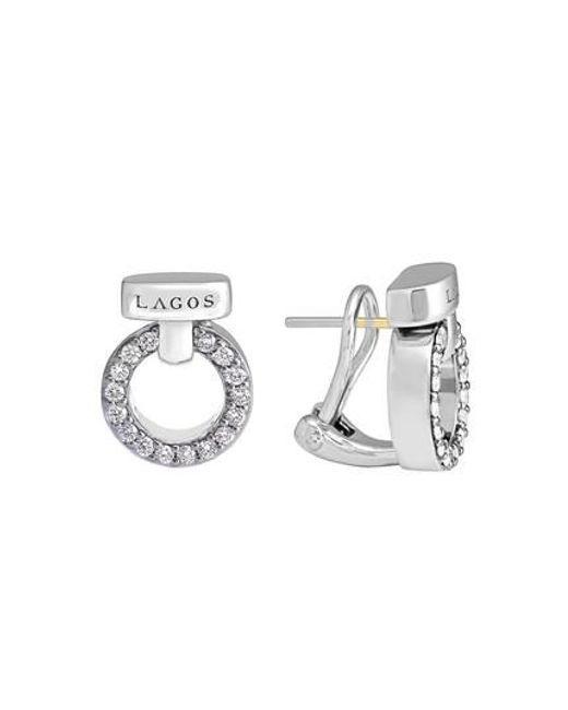 Lagos | Metallic 'enso - Circle Game' Diamond Stud Earrings | Lyst