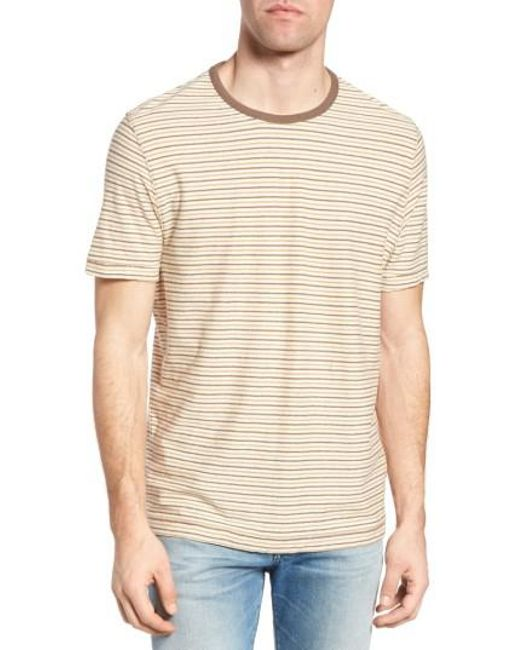 Jeremiah | Natural Bengal Reverse Stripe T-shirt for Men | Lyst