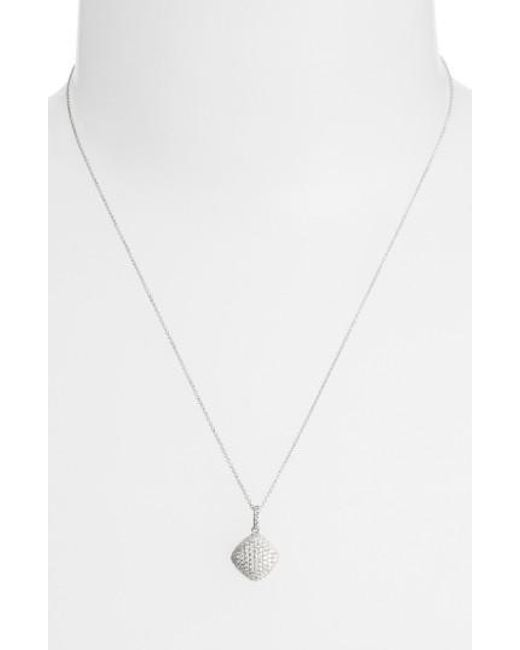 Bony Levy | White Pave Diamond Pendant Necklace (limited Edition) (nordstrom Exclusive) | Lyst