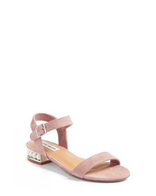 Steve Madden | Pink Embellished Sandal | Lyst