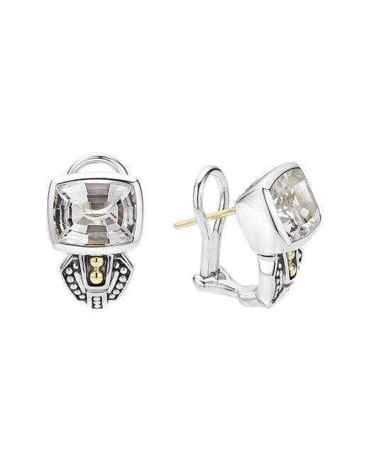 Lagos - Metallic 'caviar Color' Semiprecious Stone Stud Earrings - Lyst