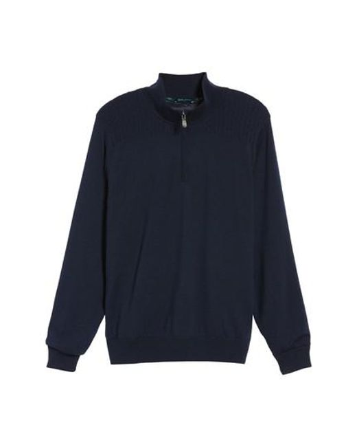 Bobby Jones | Blue Cable Wind Wool Sweater for Men | Lyst
