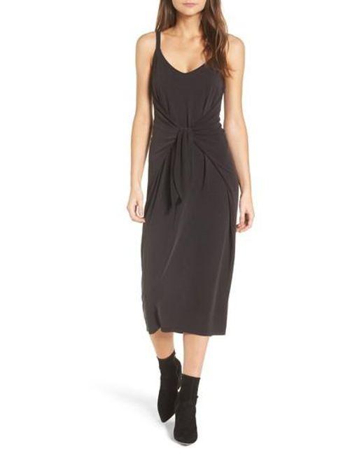 Lush | Black Knotted Midi Dress | Lyst