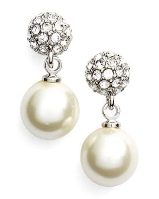 Givenchy | Metallic Fireball Imitation Pearl Drop Earrings | Lyst