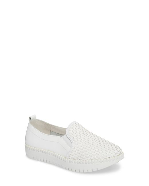 Bernie Mev - White Stretch Woven Platform Sneaker - Lyst