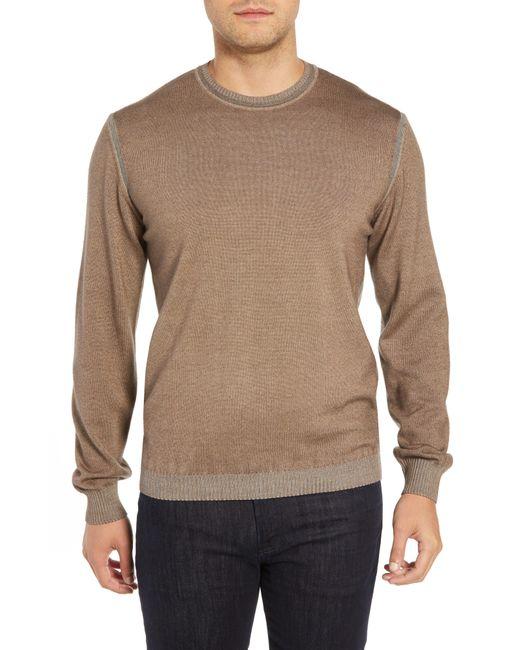 Bugatchi - Natural Crewneck Sweater for Men - Lyst