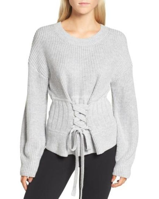 Trouvé | Gray Corset Sweater | Lyst