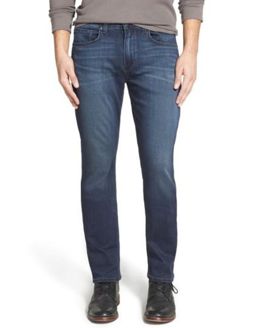 PAIGE | Blue 'federal' Slim Straight Leg Jeans for Men | Lyst