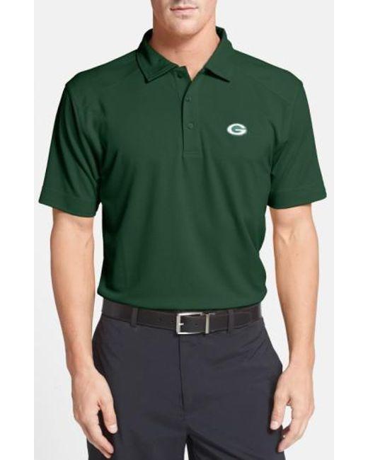 Cutter & Buck   'Green Bay Packers - Genre' Drytec Moisture Wicking Polo, Green for Men   Lyst