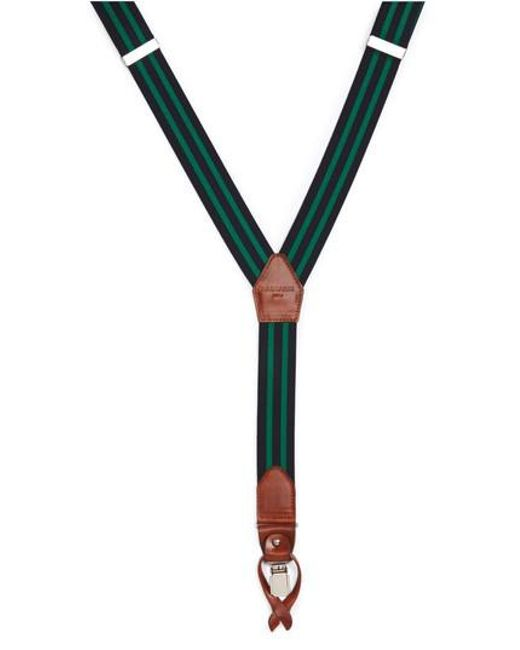 Magnanni Shoes - Green Double Line Suspenders for Men - Lyst