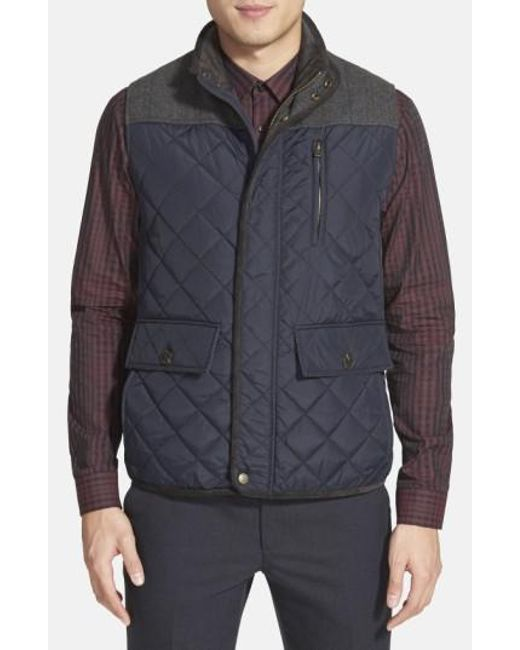 Vince Camuto | Blue Quilted Vest for Men | Lyst