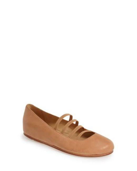 L'amour Des Pieds - Brown 'caiden' Hidden Wedge Ballet Flat - Lyst