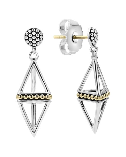 Lagos - Metallic Pyramid Drop Earrings - Lyst