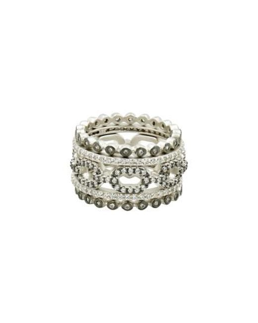 Freida Rothman | Metallic Set Of 5 Stacking Rings | Lyst