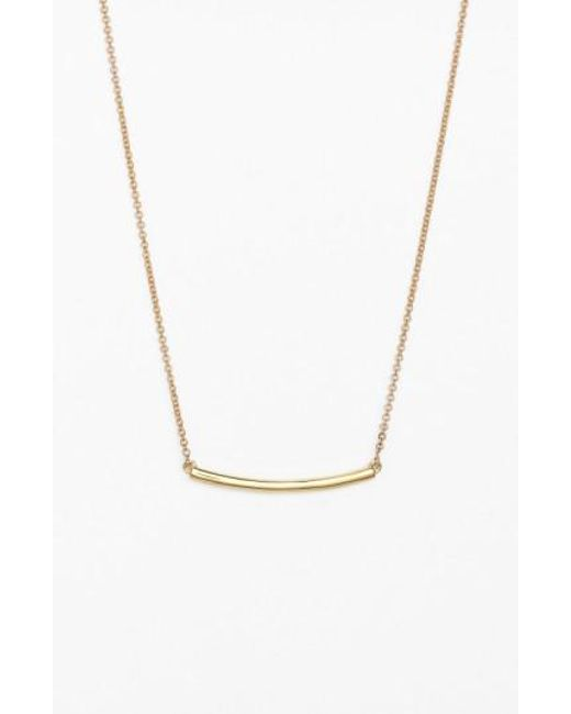 Bony Levy | Metallic Bar Pendant Necklace (nordstrom Exclusive) | Lyst