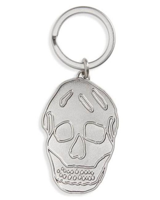 Alexander McQueen skull embellished keyring - White TogxrViag