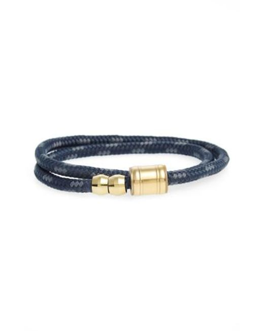 Miansai | Black Double Wrap Rope Bracelet for Men | Lyst