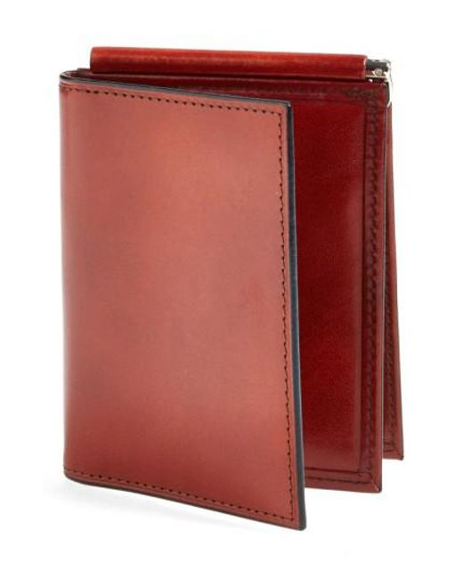 Bosca | Brown 'old Leather' Money Clip Wallet for Men | Lyst