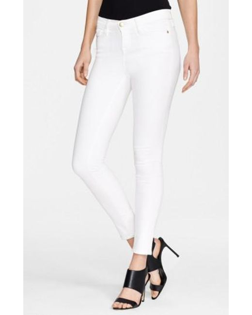 FRAME   White 'le Color' Skinny Jeans   Lyst