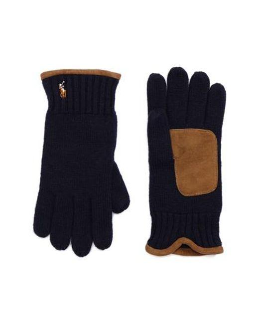 Polo Ralph Lauren | Blue Classic Luxe Merino Wool Gloves for Men | Lyst