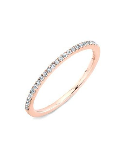 Bony Levy | Pink 'stackable' Straight Diamond Band Ring (nordstrom Exclusive) | Lyst